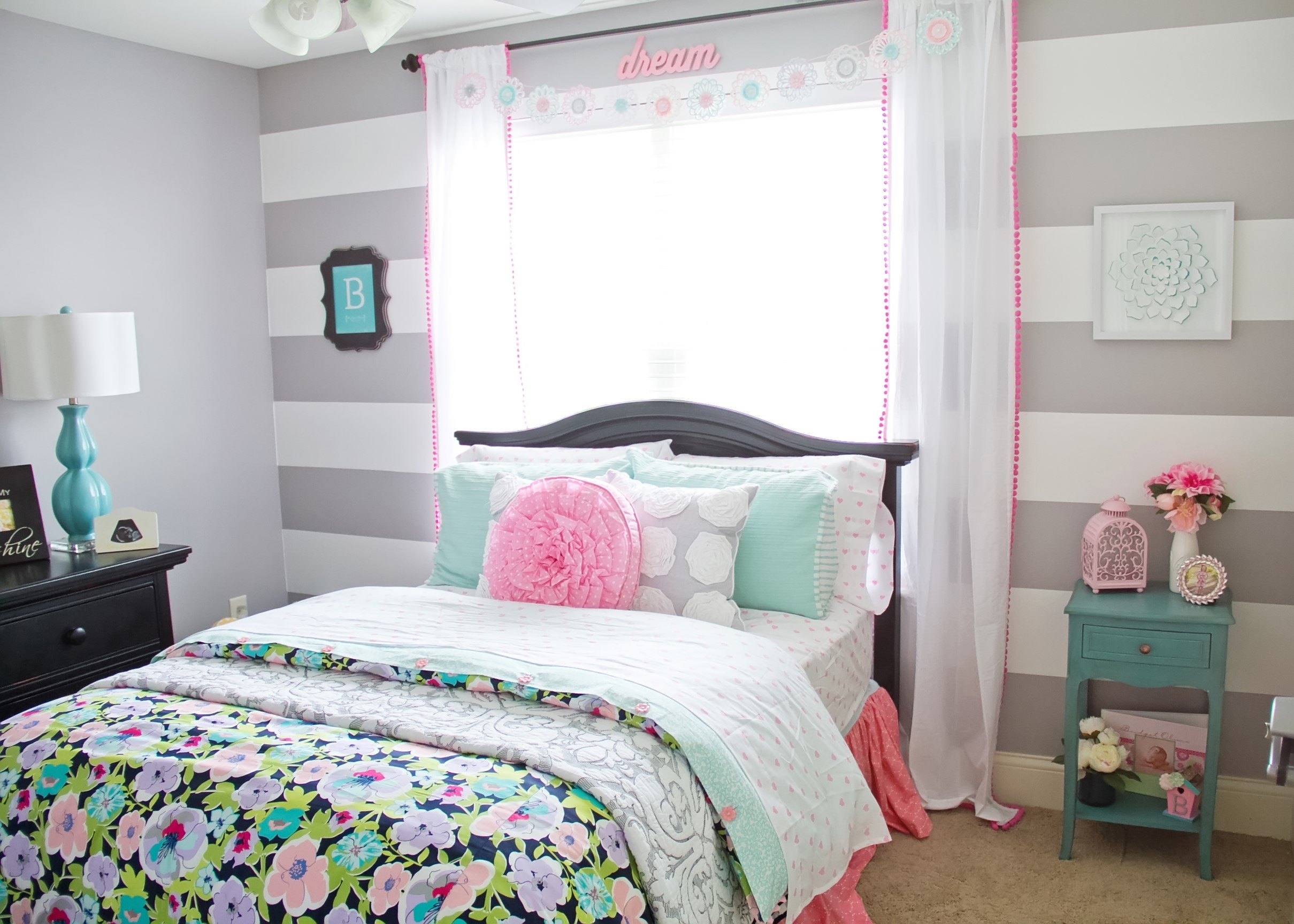 Girly And Floral Big Girl Room Project Nursery
