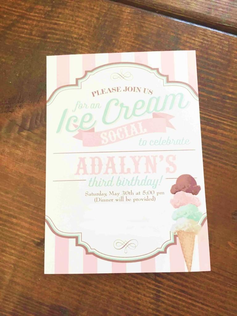 ice cream social 3rd birthday party
