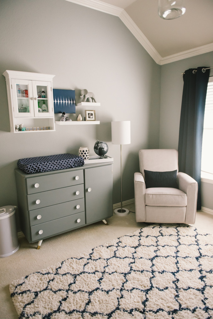 Graysons Modern Grey Navy And White Nursery Project Nursery
