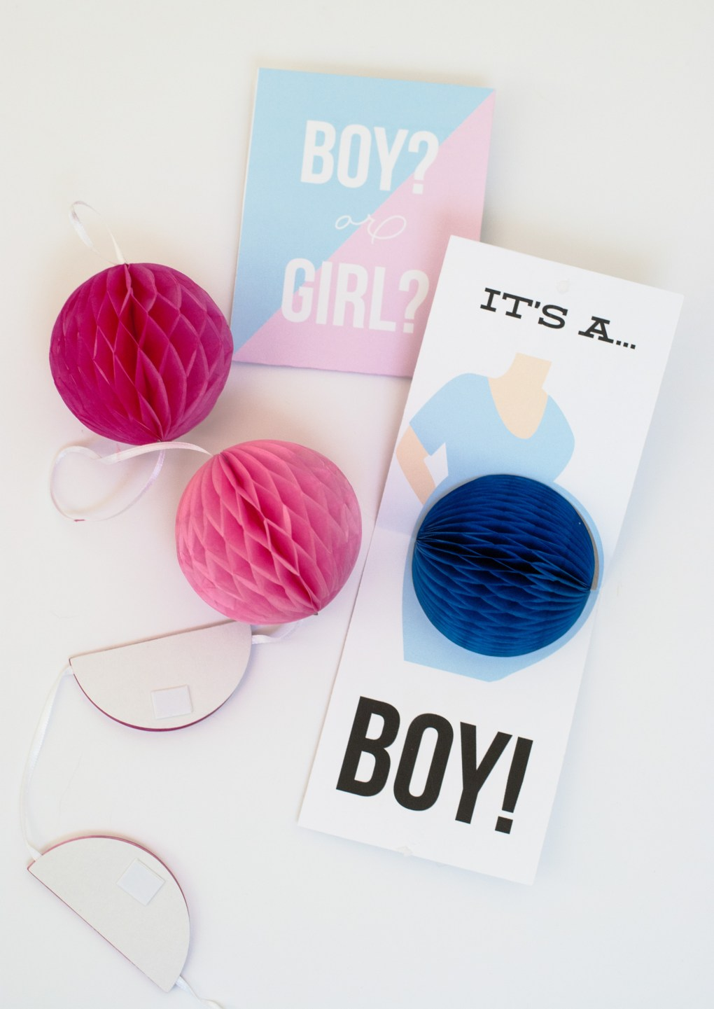 DIY Pop-Up Gender Reveal Cards