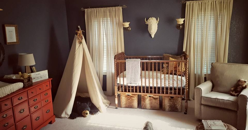 Masculine Nursery with Mix and Match Furniture | Little Crown Interiors for Project Nursery