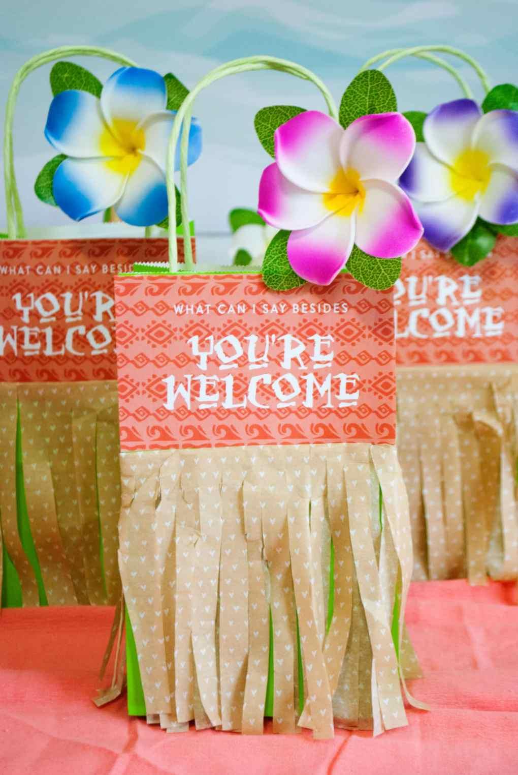 Moana Birthday Party Ideas Gift Bags - Project Nursery