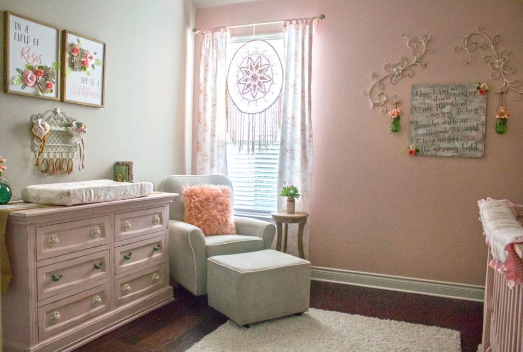 shabby chic baby girl nursery project