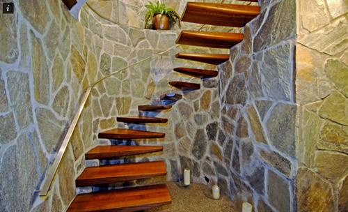 15 Mid Century Modern Dream Homes That Will K*Ll Your Children   Mid Century Modern Handrail   Porch   Interior   Art Deco   Wooden   Railing