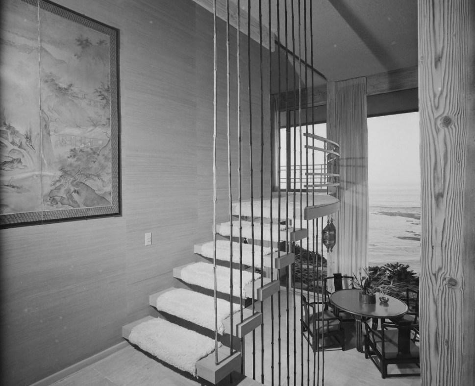 15 Mid Century Modern Dream Homes That Will K*Ll Your Children | Mid Century Modern Handrail | Cantilevered Spiral Stair | Art Deco | Modern Walnut | Tree Branch | Railing