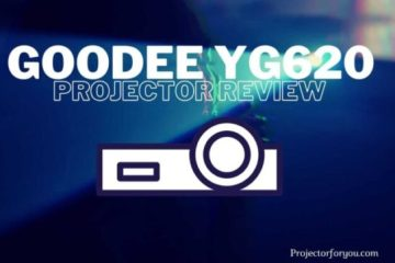 GooDee YG620 portable outdoor movie projector review