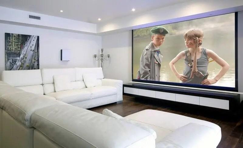 01 Các loại màn hình máy chiếu 16 Màn hình máy chiếu treo tường