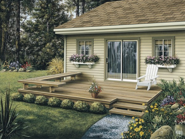 deck and patio ideas for small backyards Dewey Low Patio Decks Plan 002D-3004 | House Plans and More
