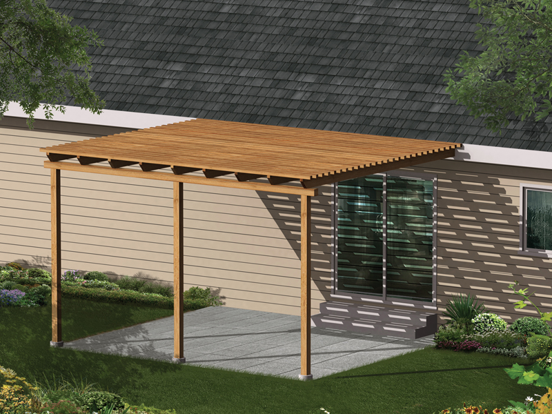 Kelsey Patio Cover Plan 002D-3015 | House Plans and More on Patio Cover Ideas Wood id=65757