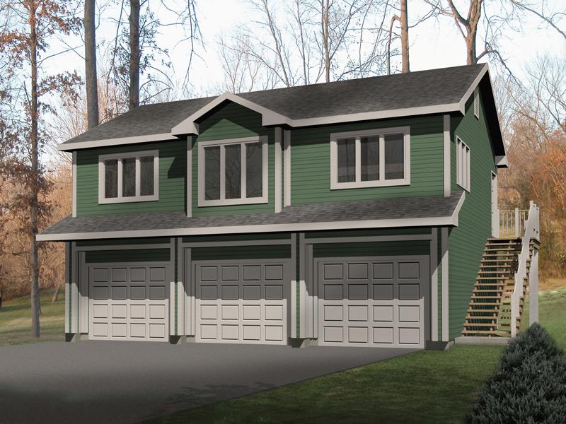 Laycie 3-Car Garage Apartment Plan 059D-7504