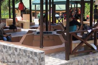 Individual hot spring tubs