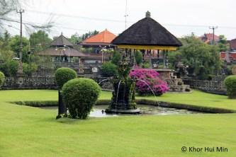 The beautiful gardens of the Taman Ayun Temple
