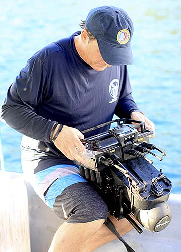 using the navigator scanner to find aircraft wreckage in palau for bentprop
