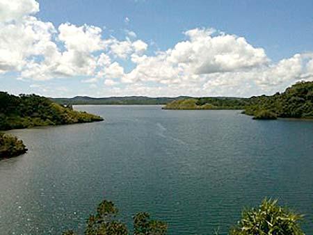 Looking into Ngatpang Bay locally called Karamadoo Bay