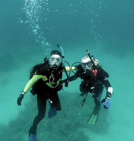 pat and flip diving for bentprop palau