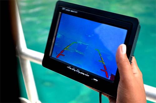 rov flight using tablet