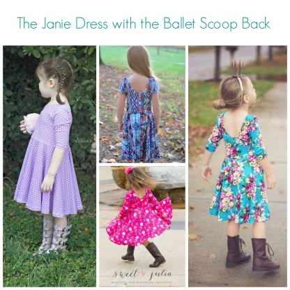 Janie Dress and Peplum by Mouse House Creations for Project Run & Play