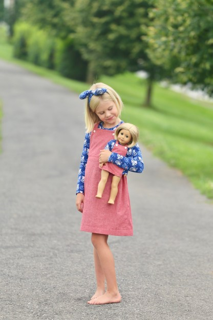 Sydney Pinafore Pattern by Mouse House Creations for Project Run & Play