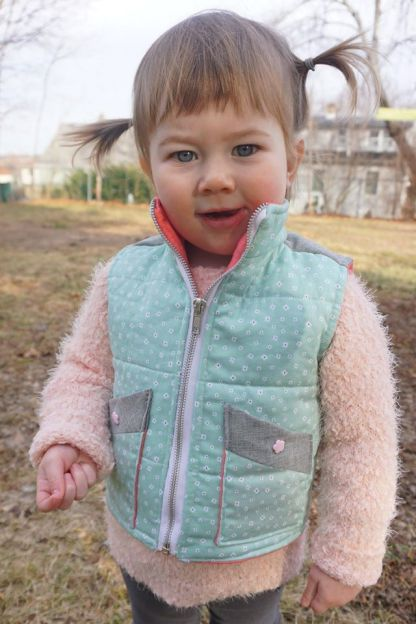 Puffin Vest by Gracious Threads for Project Run & Play