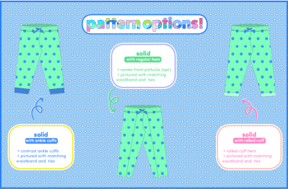 Pudding Pants by Sew Chibi Designs for Project Run & Play