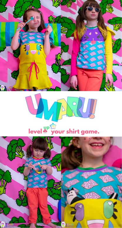 Umaru shirt by Sew Chibi Designs for Project Run & Play
