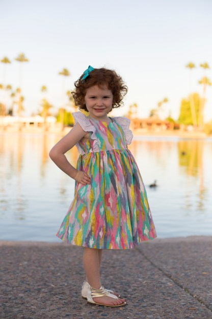 Infinite A-line Dress by Bonnie and Blithe for Project Run & Play