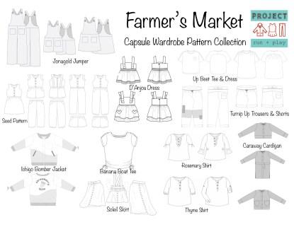 Project Farmer's Market Line Drawings