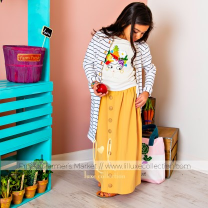 Banana Boat Tee and Soleil Skirt designed by Lil Luxe Collection for Project Farmer's Market