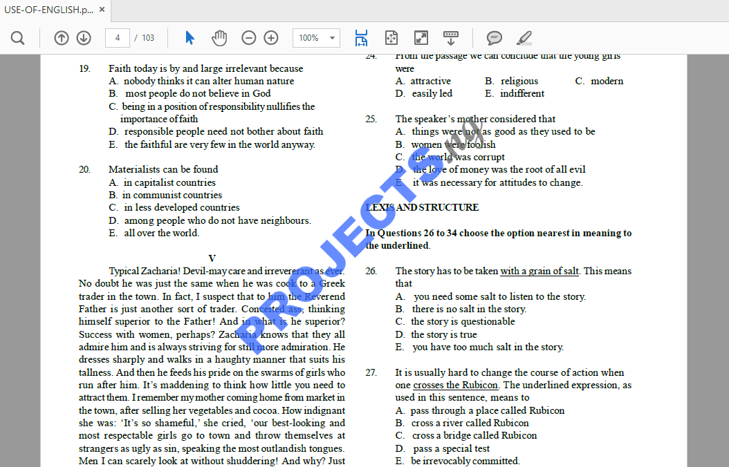 Technical answers and pdf questions c