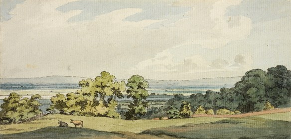A painting by George Heriot of Greenwich Park, PEI c1795
