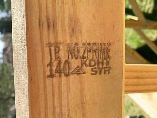 Pressure-treated lumber with a kiln-dried heat-treated stamp