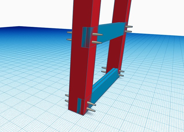 Notched 6x6 posts with double 2x support beams