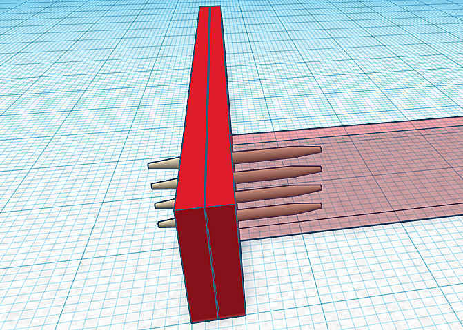 Diagram showing four 8 inch timber screws securing a joist to double 2x support beams