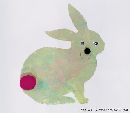 Bunny Silouette Painting 3