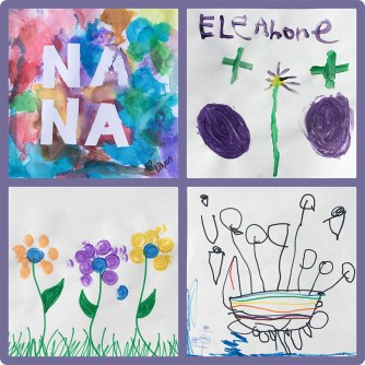Children's Art for Nana - Mothers Day DIY Canvas Tote 1of2 copy