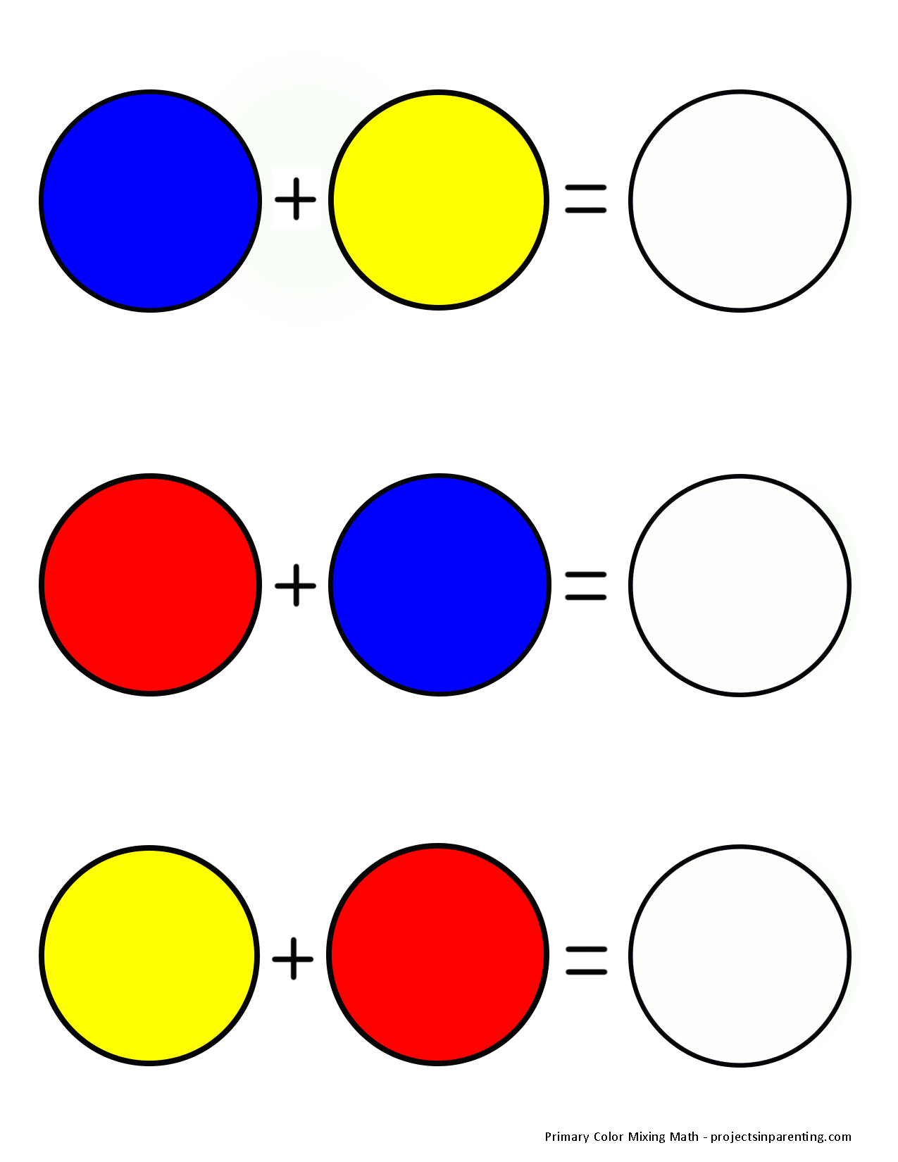 Primary Colors Worksheet For Kindergarten