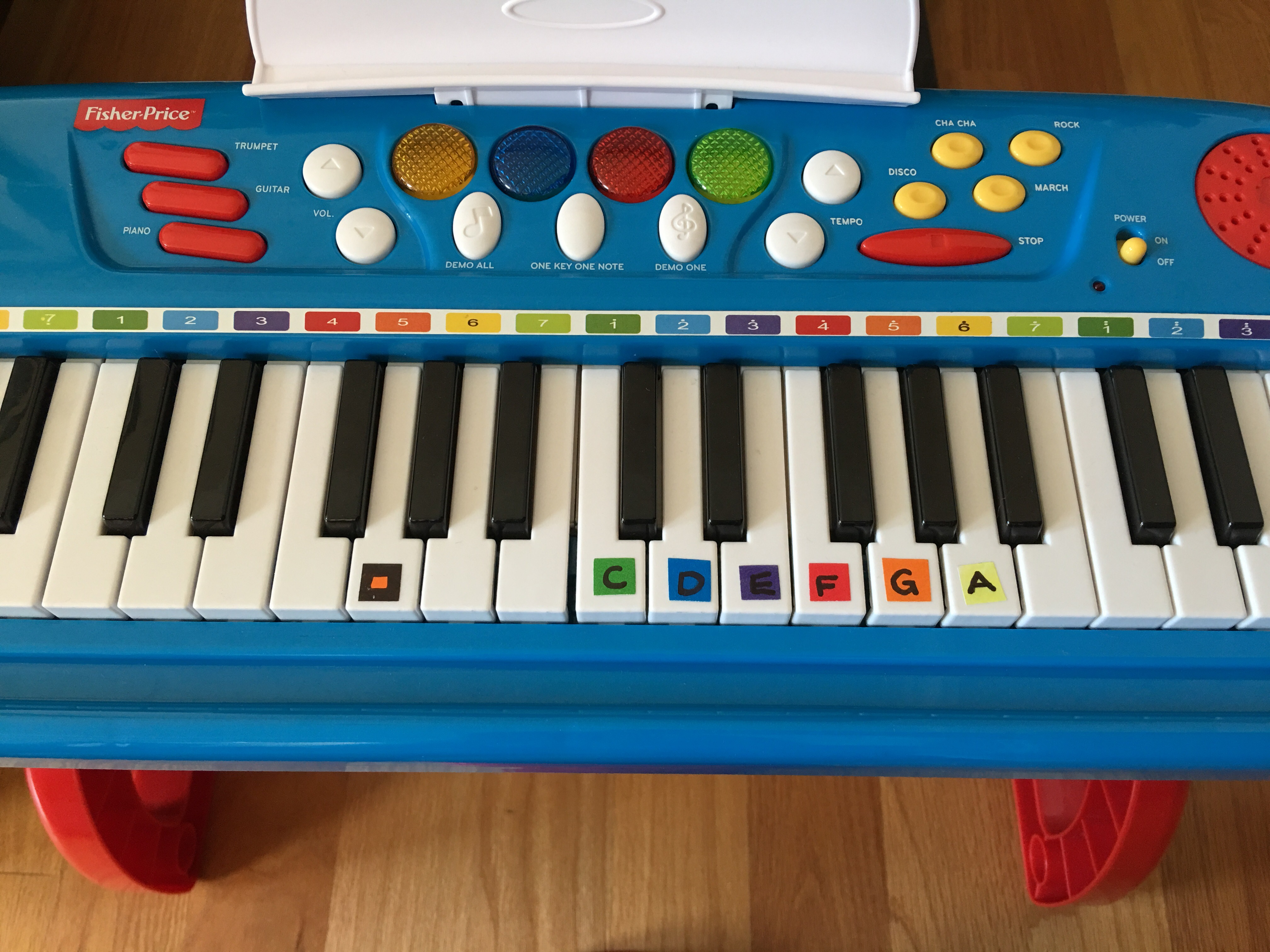 Color Coded Beginner Piano Sheet Music