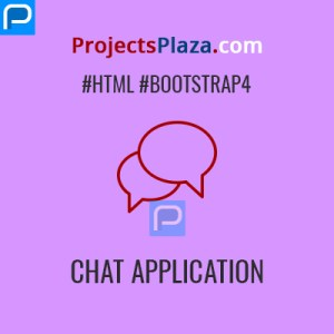 chat application responsive template