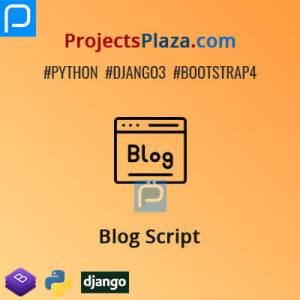 django-blog-script