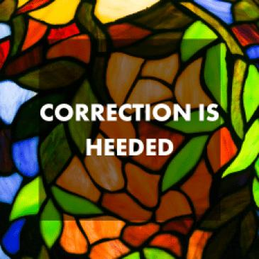 Lifeline of Correction is Heeded