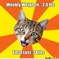 Weekly Weigh-In Post and Diet Bet Reflection