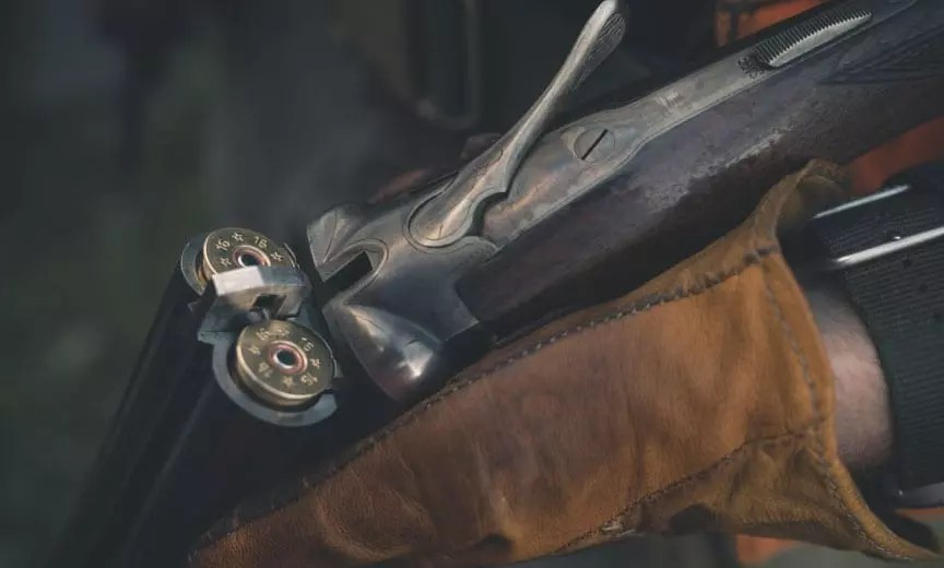 A 16 gauge fox sterlingworth side by side shotgun
