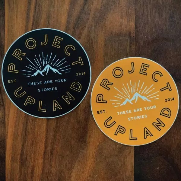 "project upland 2"" circle stickers"