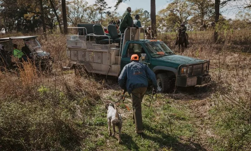 Field trialers from the Ga-Fla Shooting Dog Handlers Club, locally known as the Black Handlers Club