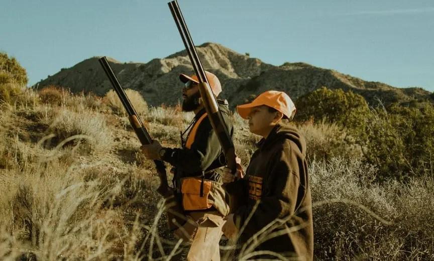 Ruben Mata hunting quail with his son.