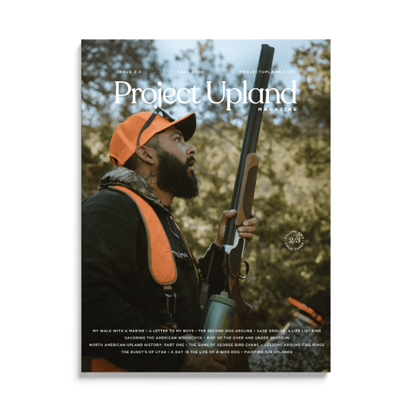 Front cover of the Fall 2020 issue of Project Upland Magazine