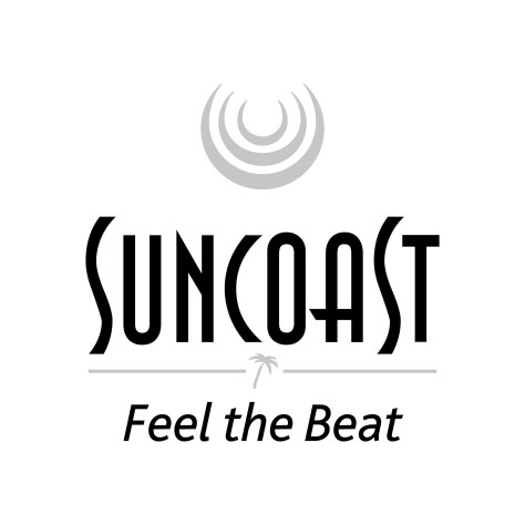 Suncoast Logo New - feel the beat (1)