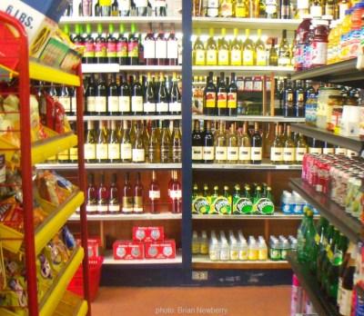 Liquor Store Shelves