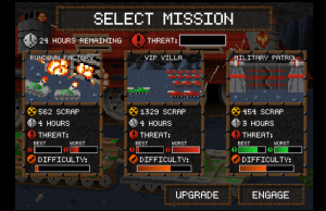 Mission Select Screen