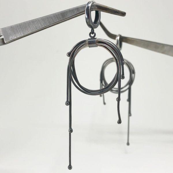 Long multi fringe hoops